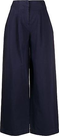 Ymc You Must Create Calça pantalona com pregas - Azul