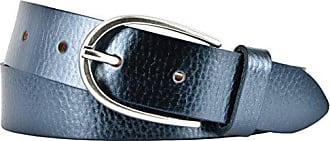 Vanzetti Damen Leder Gürtel Rindleder Metallic Damengürtel schwarz metallic 30 m