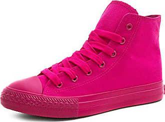 32e6e685a9b853 Marimo Klassische Unisex Damen Herren Schuhe Low High Top Sneaker Turnschuhe  Fuchsia 37