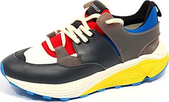 Dondup F9874 Sneaker Uomo Dark Grey/Black/Bluette D/ONE Shoe Man [42]