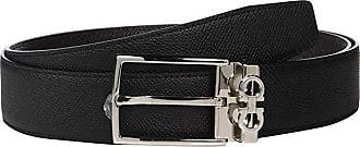 Salvatore Ferragamo Adjustable/Reversible Belt - 67A037 (Black/T. Moro) Mens Belts