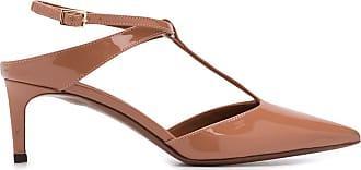 L'autre Chose Sapato de couro envernizado com salto 65mm - Neutro