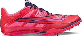 Saucony Womens Spitfire 4 Track Shoe, Pink/Grey, 6.5 M US