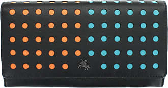 Visconti Dotcom Collection HOOP Leather Purse With RFID Protection DOT2 Black/Aqua