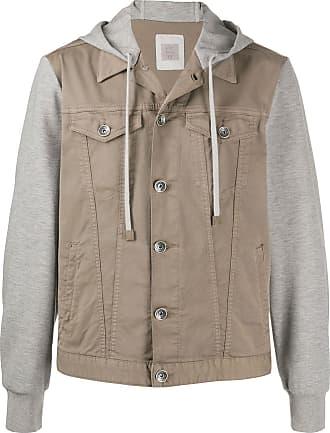 Eleventy hooded denim jacket - Grey