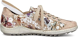 Remonte R1402 Women Low-Tops,Low Shoes,Sports Shoes,lace-up Shoe,Breathable,Rosegold/Nude-Metallic / 32,38 EU