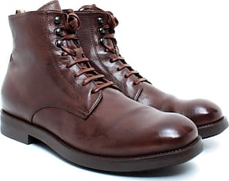 Officine Creative Mens Ankle Boots Academia/003 Cigar Leather Brown