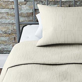 Dorel Home Products Novogratz Dream Quilt Set with Stylish Design in Brushed Microfiber, Soft & Lightweight, 2 Piece (Ivory, Twin)