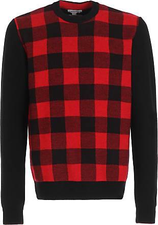 Woolrich Roter und schwarzer Pullover mit Rundhalsausschnitt aus Merinowolle von Buffalo - Red/Black   m