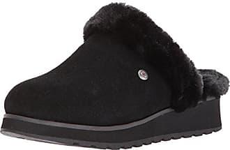 Skechers BOBS from Womens Keepsakes High-Snow Magic Slip on Slipper,  Black Black 9a6ab713f6