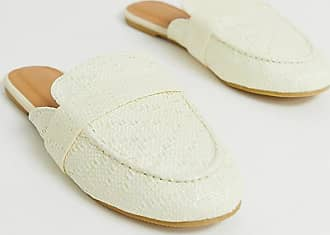 Park Lane wide fit woven mules-Beige