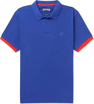 Vilebrequin Palatin Contrast-tipped Cotton-piqué Polo Shirt - Royal blue