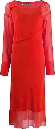 Acne Studios Georgette bias-cut dress - ORANGE