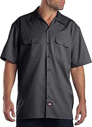 Long//S Work Shirt Dark Navy Arbeitshemd Hemden Dunkelblau Dickies