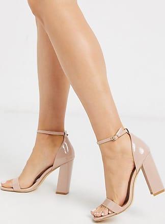Sandales à talons carrés nouées à la cheville effet cage