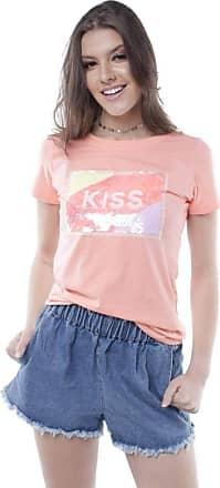 Pop Me Blusa T-shirt Kiss Pop Me-coral-m