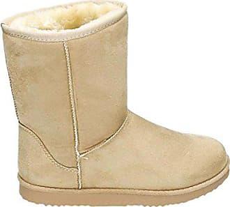db3525bcb0af9f King Of Shoes Damen Stiefeletten Schnee Stiefel Boots Flache Schlupfstiefel  Warm Gefüttert Winter Schuhe 783 (