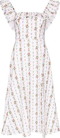 Reformation Vestido com babados e estampa floral - Branco