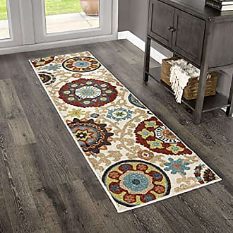 Orian Rugs 2304 Veranda Indoor/Outdoor Tatro Runner Rug 23 x 8 White