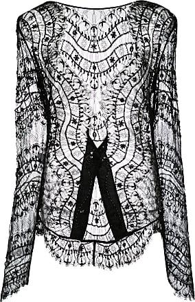 Kiki De Montparnasse beaded lace jacket - Black