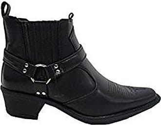US Brass Mens Black Classic Texas Cowboy Western Harness Hi Boots Sizes 6-12 (Size 11 UK Euro 45)