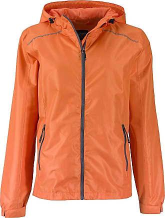 James & Nicholson Ladies Casual, Functional Outdoor Jacket (S, Orange/Carbon)