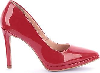 Paula Brazil Scarpin Ayla 292-03549 Verniz Vermelho Vermelho - 39