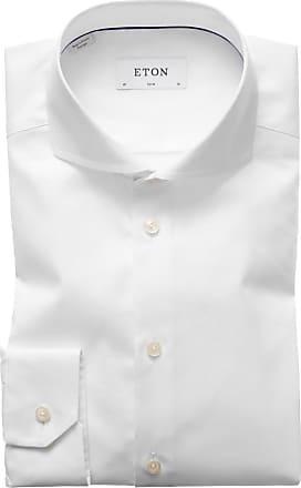 Eton Feines Slim Fit Businesshemd von Eton in Weiss für Herren
