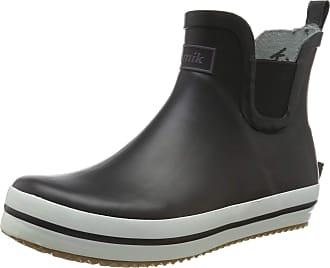 kamik Womens SHARONLO Rain Boot, Black Black Blck, 4 UK