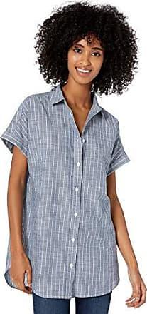 Brand Goodthreads Womens Tencel Short-Sleeve Tunic Railroad Stripe Medium