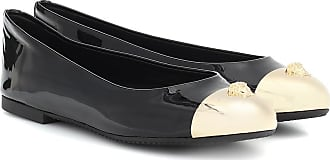 Versace Embellished patent leather flats