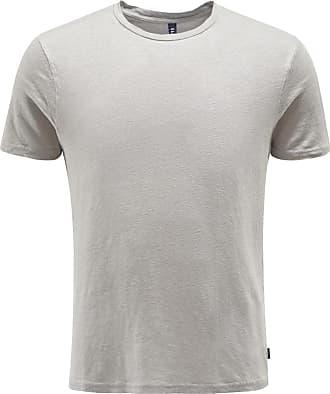 04651/ Leinen R-Neck T-Shirt grau bei BRAUN Hamburg