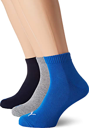 Yellow // Black Non 2 Pairs Puma Kids Quarter Soft Cotton Sock UK Size 12-1.5
