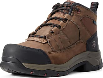 Ariat Mens Telluride Work Waterproof Composite Toe Boots in Distressed Brown Leather, D Medium Width, Size 10.5, by Ariat