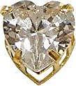 Prado Joias Pingente Em Ouro 18k Ponto De Luz Coração Zircônia 6mm