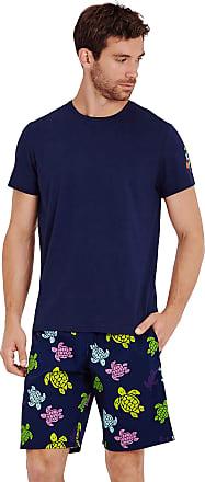 Vilebrequin Men Cotton T-Shirt Tortues Multicolours - Navy - XL