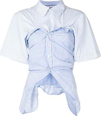 Ground-Zero asymmetric short-sleeve shirt - Azul