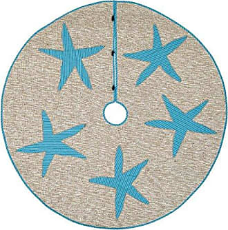 VHC Brands Holiday Decor Nerine Tree Skirt, 55 Diameter, Natural
