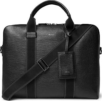 ea5b1f61aca HUGO BOSS Timeless Cross-grain Leather Briefcase - Black
