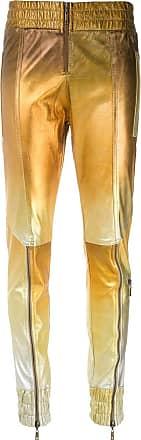 Andrea Bogosian Calça skinny de couro degradê metalizado - Dourado