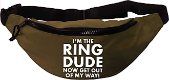 Flox Creative Recycled Polyester Khaki Green Bumbag Im the Ring Dude