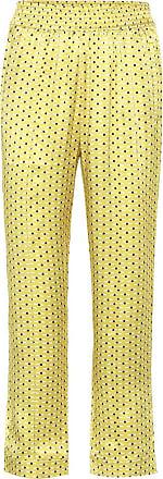 Asceno Pantaloni pigiama a stampa in seta
