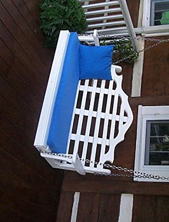 A & L Furniture A & L Furniture 867-WH White Poly Marlboro Swing, White