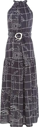 Dress To Vestido Longuete Estampa Terra - Preto