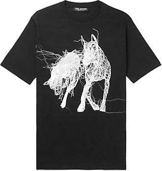 Neil Barrett Printed Stretch-cotton Jersey T-shirt - Black