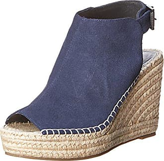 Kenneth Cole Womens Olivia Espadrille Wedge Sandal, Navy, 7 M US