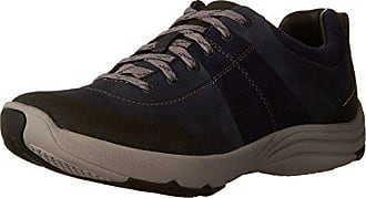 Clarks Womens Wave Andes Walking Shoes, Navy Nubuck, 7 W US
