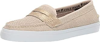 15eb001ea94 Cole Haan Womens Pinch Weekender LX Stitchlite Loafer Flat Brazilian  Sand CH Gold Knit 10.5