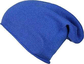 Zwillingsherz Slouch 100% Cashmere Beanie Knit hat for Girls/Boys - Beanie - Unisex - One Size fits All - Warm and Soft in Summer, Fall and Winter (Jeans Blue)