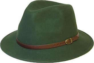 Hat To Socks Wool Fedora Felt Trilby Hat (58 cm, Green)